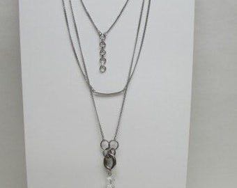 Long necklace all in stainless steel