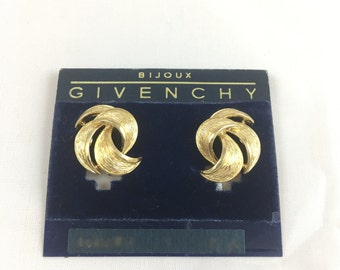 Givenchy! Gold Tone Clip On Earrings