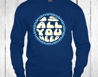 All You Need Is Love The Beatles Men Sweatshirt