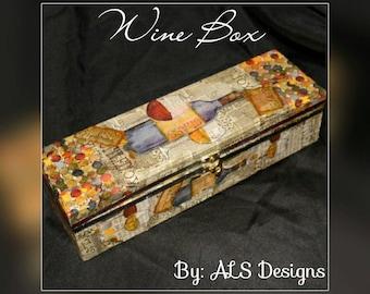 Decorative wine box.