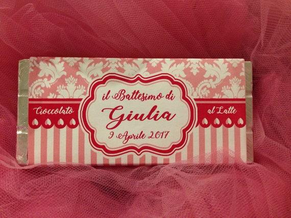 Eccezionale File Etichetta per barretta di cioccolato personalizzata festa UU94
