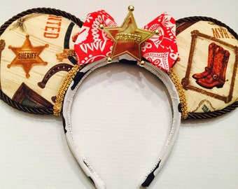 Toy Story Woody Cowboy ears with sheriff badge