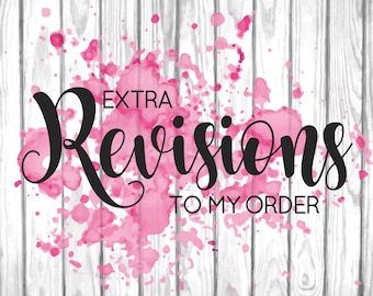 Extra Revisions, Further Changes, Changes to Your Order, Additional Revisions to Your Purchase from TootSweet Design Co