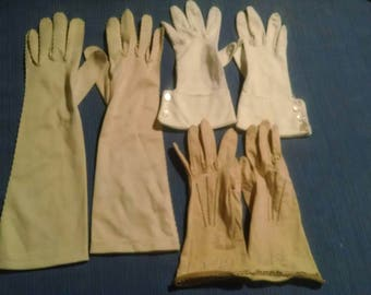 Vintage formal gloves - lot of three
