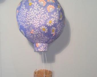 One Purple Floural Boho Hot Air Balloon