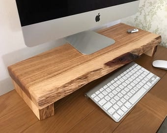 Rustic Computer desk tidy in solid oak