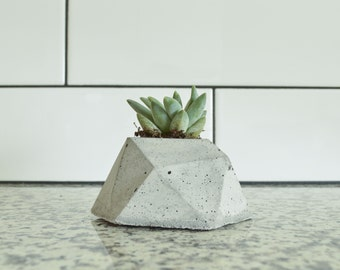 Concrete Planter, Succulent Planter, Inverted Geometric Design, Modern & Trendy