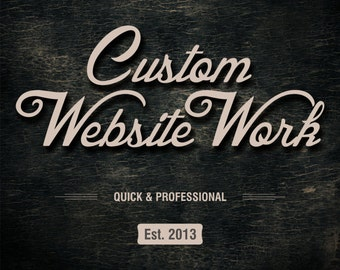 Website support & 3 Image design, Custom work on your Website, Website Maintenance, Website work