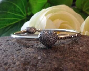 Pandora Open My Heart Clip Clear CZ Fashion Genuine Designer Sterling Silver Clip/Bead Free Velvet Pouch Bag