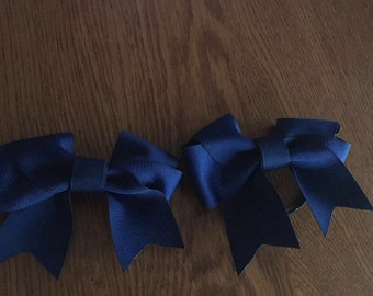 Navy (dark) Blue Bow. Colon Cancer.