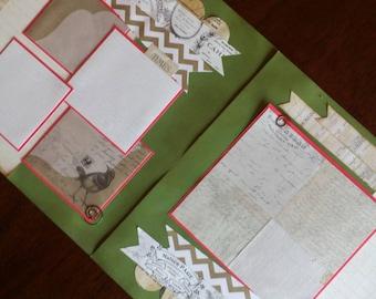 Premade 12 x 12 scrapbook page, handmade scrapbook page, scrapbook page kit, general theme scrapbook page, premade scrapbook page,2 page kit