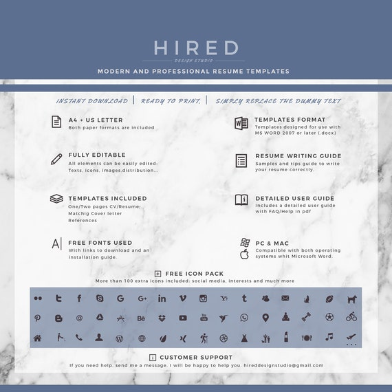 creative resume template resume template for ms word cv