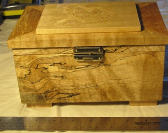 Spalted maple jewlery  box