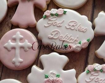 Baptism cookies - 1 dozen