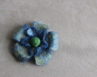 felt multicolor flower brooch, wool jewelry, accessories, wool, gifts for her