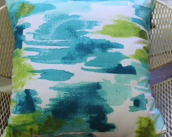 Cushion Cover - 'Blue Green Abstract'