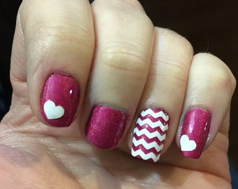Hearts Nail Decal