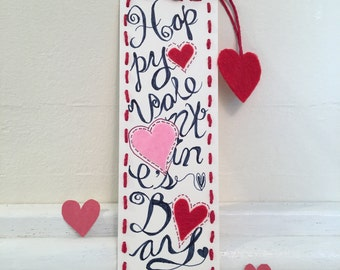 Handcrafted bookmarks for Valentine's
