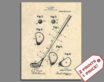 Golf Prints - Golf Club Patent Art - Vintage Patent Art Prints - Golf Home Decor - Golf Gift - Golf Prints - Golf Wall Art -Patent Print 316