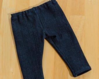 """Blue denim legging for 18"""" doll #Jeggings #18"""" doll denim legging #American Girl Doll #Legwear for 18"""" Doll"""