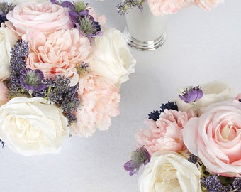 Luxury Pink White Rose and Peony Flower Arrangement