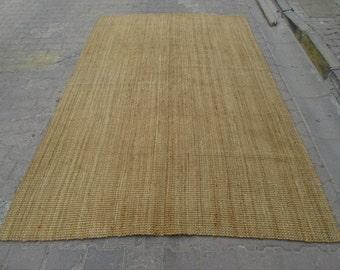6.5x10 Ft Vintage rustic straw sisal rug