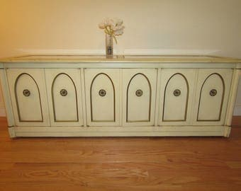 Mid Century Painted Low Credenza/Storage/Media Cabinet/Console...Delivery Available