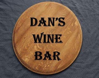 Wine Barrel Wine Bar Sign