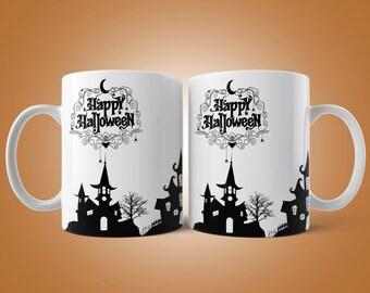 Happy Halloween Mug, Coffee Cup, Halloween Gift