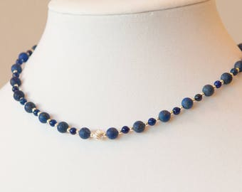Mood Indigo: lapis lazuli and sterling silver necklace