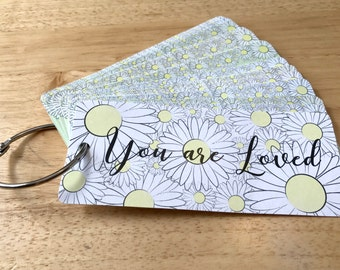 "Personalized Reasons I Love You Flip Book ""Daisy"""