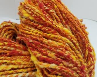 Art yarn Fire colorway