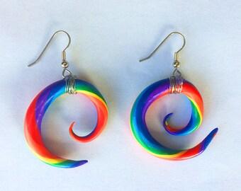Rainbow Swirl Earrings
