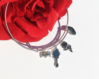Beauty and the Beast/Belle Inspired Charm Bracelet