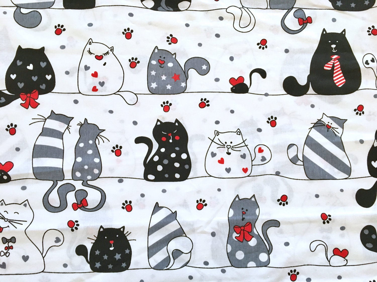 Cat fabric cats fabric cats print children fabric black for Children s animal print fabric