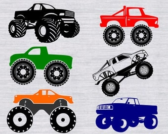 Monster truck SVG bundle, monster truck clipart, cars svg, svg files for silhouette cameo, cricut explore, svg files for boys, dxf, cutfile