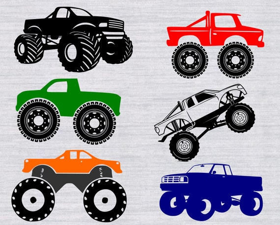 Monster Truck Svg Bundle Monster Truck Clipart Cars Svg