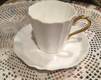 Vintage Wedgwood demitasse cup and saucer bone china. Pre 1960
