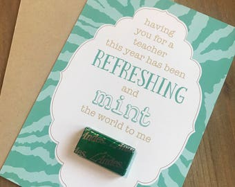 Teacher Card - Mint the World to Me (set of 3)