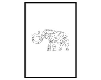 Elephant Poster - Free Shipping - Elephant Decor - Poster Design 2017