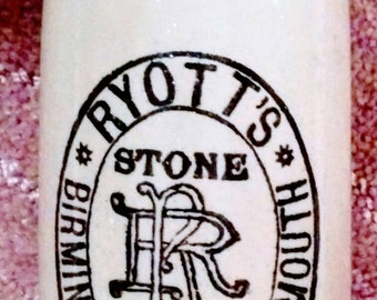 Antique Pearson's of Chesterfield Ryott's Stone Beer Bottle,England