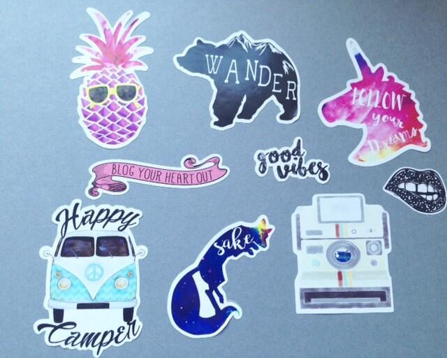 Hipster Sticker Vinyl Stickers Sticker Pack Cute Stickers Cool - Vinyl stickers for laptops