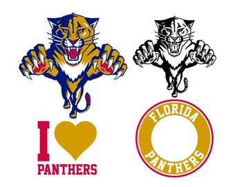 Florida Panthers Cut Files, Florida Panthers SVG Files, Florida Panthers SVG Cutting Files, Florida Panthers Cuttable SVG, Instant Download