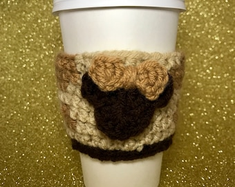 Safari Minnie coffee cozy