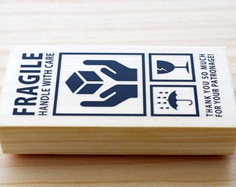 CLEARANCE SALE - Rubber stamp - Fragile Atype