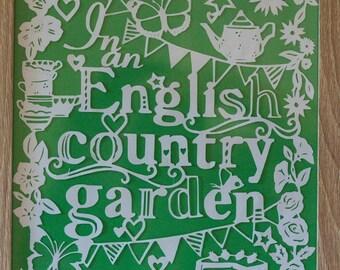 In an English Country Garden Papercut