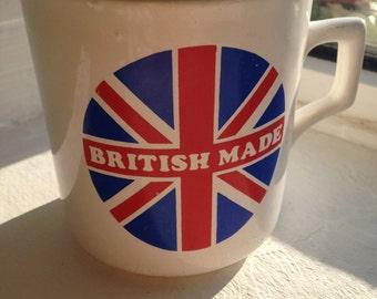 """Classic retro Paul Clark Design """"British Made' Extra large mug"""