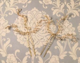 Pearl Hair Pin // Wedding hair accessory