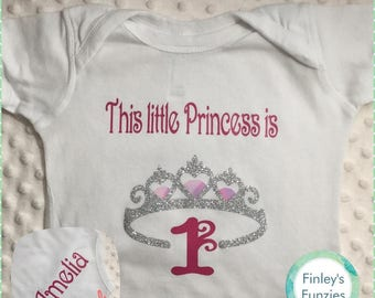 Custom princess Birthday  Baby Onesie toddler shirt