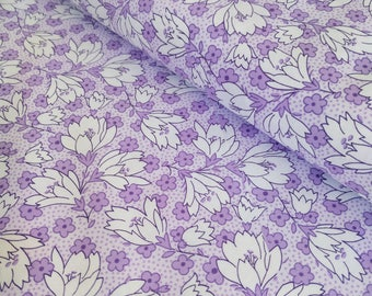 Purple Floral Fabric - Floral Quilting Fabric - Purple Flower Fabric - Lavender Quilting Cotton - Fabric By the Yard - Maywood Studio Fabric